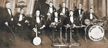 Melody Kings Dance Orchestra, 1925. Detail from cover of music sheet.